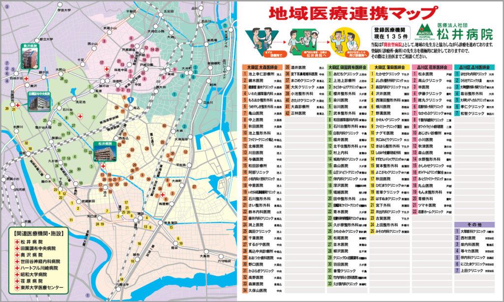 松井病院地域医療連携マップ