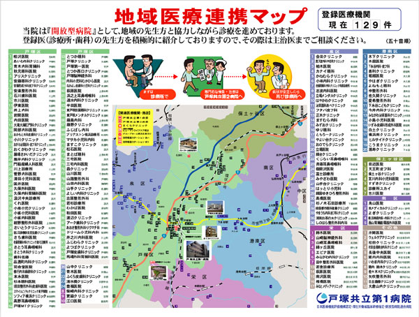戸塚共立第1病院・地域医療連携マップ