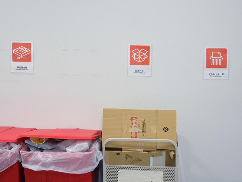 ゴミ3種置き場のピクトグラム